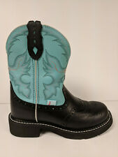 Justin Boots Gypsy Boot, Black/Turquoise, Womens 6 M