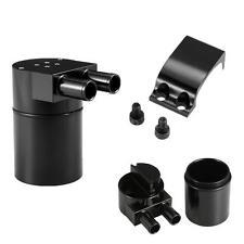 Car Engine Reservoir Oil Catch Can Tank Built-In Filter Kit Universal Black Z3B8