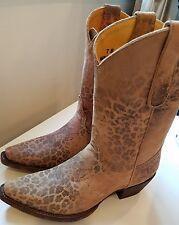 "Old Gringo Leopardito 10"" Cowboy Boot, Ochre Vijeo Size 7"