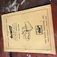 GARWOOD 203 DOZER TRACTOR PARTS OPERATION MAINTENANCE MANUAL ALLIS-CHALMERS