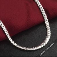 925 Sterling Silberkette Massiv Panzerkette Königskette Damen Herren 50cm lang