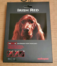 AudioQuest Irish Red Subwoofer RCA 3M Single Analog Interconnect Cable NEW