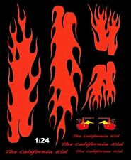 California Kid 1934 Ford Flames Black Car 1/25th - 1/24th Scale Waterslide Decal