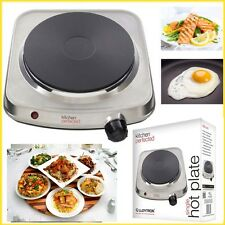 Single Portable Hot Plate LLOYTRON 1500W Cast Iron STEEL Electric Heater Nonslip
