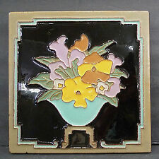 Vintage Tile-Bowl of Flowers-Claycraft  Franklin AET Wheeling Flint