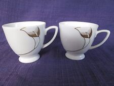 IMAGES by Royal Sealy SYMPHONY LOT of TWO 2 Cups Gold  Lilies