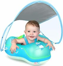 Baby Swimming Float Inflatable Pool Float Ring Newest Sun Protection Canopy