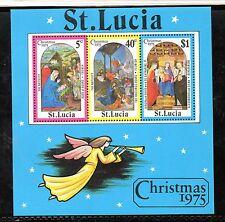 Santa Lucia Navidad Hojita del año 1975 (CL-398)