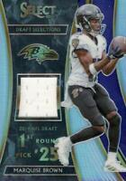 2019 Panini Select Draft Selection Memorabilia /99 Marquise Brown #DS-7 Rookie
