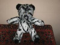 Vintage German OOAK Striped Teddy Bear