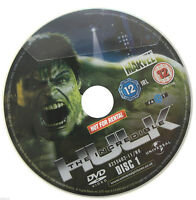 The Incredible Hulk DVD R2 PAL - Edward Norton - DISC ONLY in Sleeve