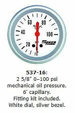 SPECO PRO 2 5/8 0-100 PSI MECHANICAL OIL PRESSURE  P/N 537-16