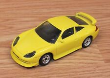 Genuine Burago Carrera Porche 911 Collectible 1/43 Diecast Yellow Car **ITALY**