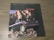 MINT CHEVROLET 1985 CHEVY S-10 PICKUP 20 PAGE SALES BROCHURE NEW (BOX 262)
