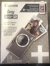 Canon Ivy CLIQ+2 Instant Film Camera - Metallic Mocha Sealed