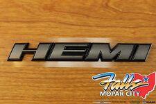 2016-2017 Dodge Challenger Granite Grey Crystal HEMI Nameplate Emblem OEM Mopar