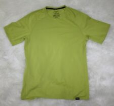Patagonia Men Green Silkweight Capilene 1 Crewneck Short Sleeve Shirt Sz Small S