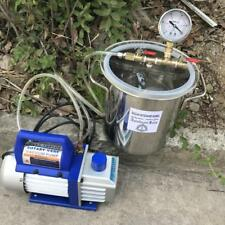 1.6 Gallon Vacuum Chamber Kit with 2.5 CFM 1 Stage Vacuum Pump 220V HVAC EU Plug