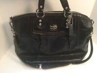 Coach Black Madison Claire Patent Leather Large Tote Bag Purse Shoulder 14297
