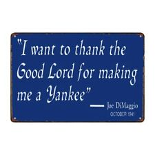 Metal Tin Sign thanks the lord for making me yankee Decor Bar Pub Home Vintage
