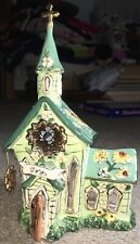 Heather Goldminc 2004 Blue Sky Joy Church Beautiful Religious Fun Tea Light Nice