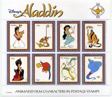 Disney Stamps Sheet : Aladdin - Animated Film characters