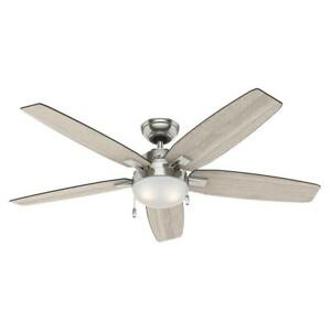 Antero 54 in. LED Brushed Nickel Ceiling Fan with Light Replacement Parts