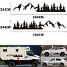2pcs Car Body Forest Mountain Graphic Stickers Decal for Camper RV Trailer Truck