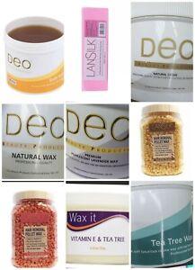 Deo Soft Honey Wax Pot Tub Depilatory Leg Body Waxing Strip Spatula Set