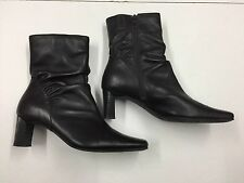 CLARKS SIZE 6 1/2 BROWN LADIES RUCHED ANKLE BOOTS BB5