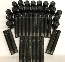 20 X M14X1.5 ALLOY WHEEL STUDS + NUT CONVERSION BLACK 68mm VOLVO M14X1.5 65.1