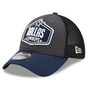 Dallas Cowboys New Era Graphite Navy 2021 NFL Draft Trucker 39THIRTY Flex Hat