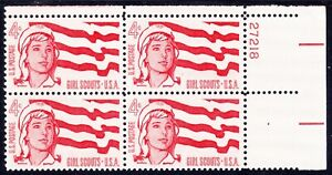 ALLY'S STAMPS US Plate Block Scott #1199 4c Girl Scouts [4] MNH [STK]