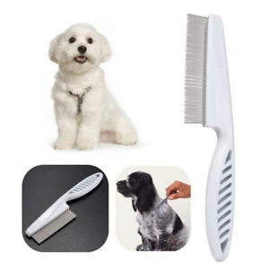 Fine Toothed Flea Flee Metal Nit Head Hair Lice Comb w/ Handle for Pet Dog Cat