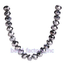 200Pcs 4mm 5040# Faceted Jewelry Loose Rondelle Crystal Glass Spacer Beads
