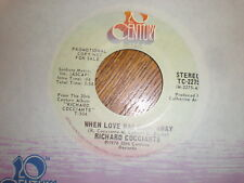 Richard Cocciante 45 When Love Has Gone Away 20th CENTURY PROMO