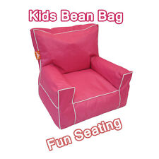 Hot Pink Indoor Outdoor Kids Sofa Bean Bag Seater Chair Lounge Cover