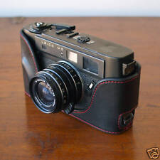 Mr.Zhou Black Leather Half Case Red Stitching for Leica M5 Camera w 2 or 3 Lugs