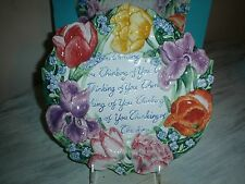 Fitz And Floyd Spring Bouquet Canape Plate Nib