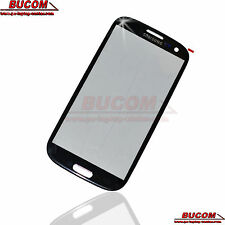 Für Samsung Galaxy S3 SIII Front Glass Panel Front Scheibe Display Glas black