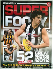 Herald Sun Newspaper SUPER FOOTY Souvenir 52 Pages Of Great Photos from 2012