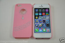 Pink Diamond PENDANT Style Bling - iPhone 5 5S Designer Luxury Glitter Full Case