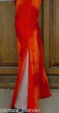 SEXY LEG FIESTA ORANGE JAZZ PANTS BELLY DANCE 14 / 16 STRETCH VELVET MADE INDIA