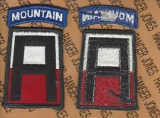 USA 1st Army Mountain Warfare School Command uniform shoulder patch m/e