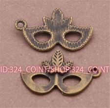 P494 15pcs Antique Bronze mask Pendant Bead Charms Accessories wholesale