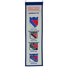 NEW YORK RANGERS FAN HERITAGE BANNER LEETCH, LUNDQVIST, MESSIER RARE BEAUTIFUL