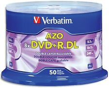 100-Pak Verbatim 8X Logo-top 8.5GB Double Layer DL DVD+R's, Verbatim 97000