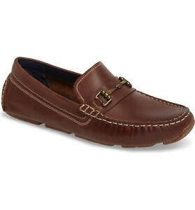 Cole Haan Men Slip On Penny Loafers Kelson Bit Size US 12M British Tan Leather