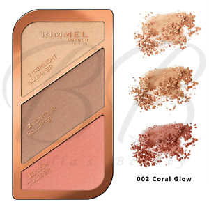 RIMMEL Kate Sculpting Contouring Highlighter Palette Kit - 002 Coral Glow *NEW*