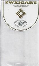 "Zweigart 25ct White Lugana Cross-Stitch Hardanger Embroidery Fabric 18"" x 18"""